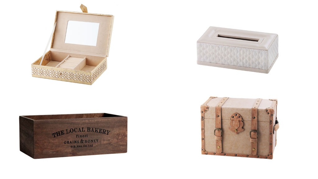 Pudełka, skrzyneczki, boxy i inne skrytki